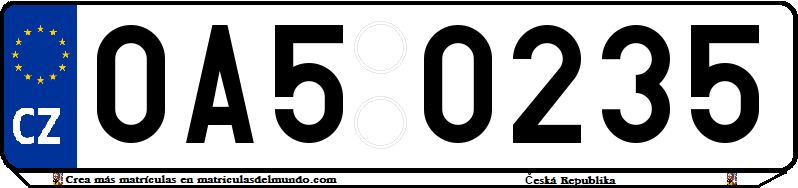 Genera y crea tu propia matricula de la Republica Checa gratis / Generate your own czech license plate for free