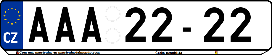 Genera y crea tu propia matricula de la Republica Checa sistema anterior checoslovaquia gratis / Generate your own historical old czech license plate for free