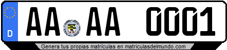 Genera tu propia matricula de Alemania de dos letras / Generate your own license plate from Germany with two letters