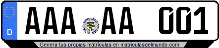Genera tu propia matricula de Alemania de tres letras / Generate your own license plate from Germany with three letters
