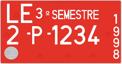 Genera y crea tu propia matricula de pruebas antigua española 1971-1987-1999 grafia normal / Generate your own spanish obsolete old license plate from prueba test system from 1987 to 1999 free