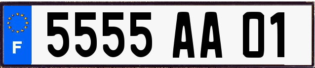 Genera y crea tu propia matricula de Francia del sistema antiguo BLanco(FNI) gratis / Generate your own french license plate from normal OLD blanco system for free