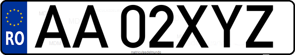 Genera y crea tu propia matricula de Rumania actual anterior normal y ejercito gratis / Generate your own Romanian car plate system license plate for free