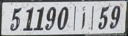 marruecos license plate
