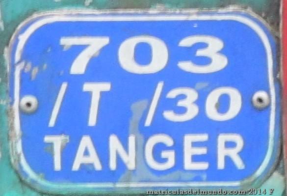 marruecos placa azul